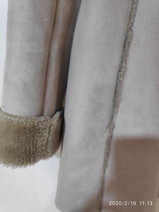 Abrigo doble faz beige