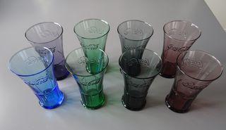 8 Vasos Coca Cola colores variados