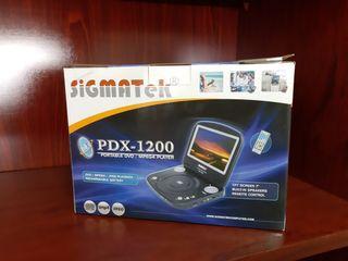 Reproductor DVD portátil,Sigmatek PDX 1200,NUEVO!