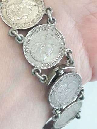 pulsera plata antigua