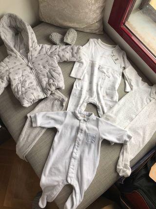 Lote Ropa Bebe 3-6 meses Abrigo Polainas Pelele