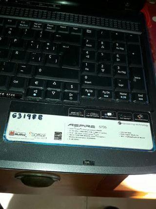 ordenador portátil Acer Aspire 5735