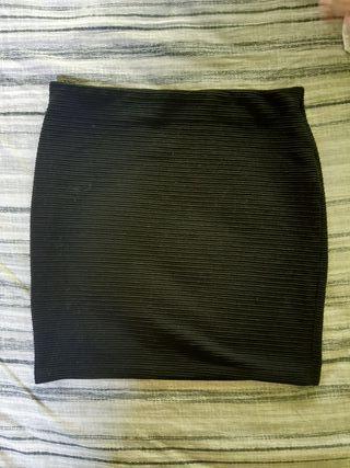 falda de tubo basica negra