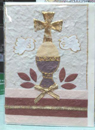 tarjetas para comunion con relieve