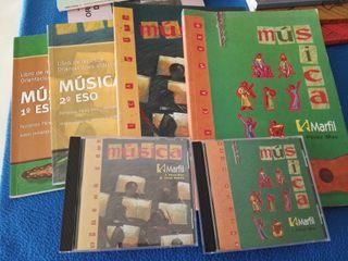 Lote de libros de Música (alumno y profesor) ESO