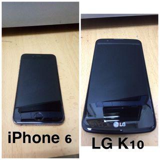 iPhone 6 & LG K10