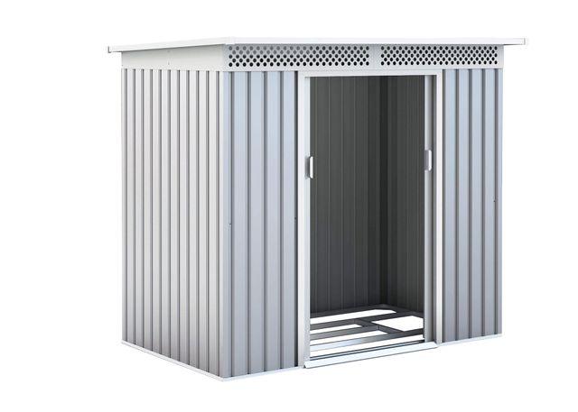 Caseta Metálica para Exterior 3 m² Plateada