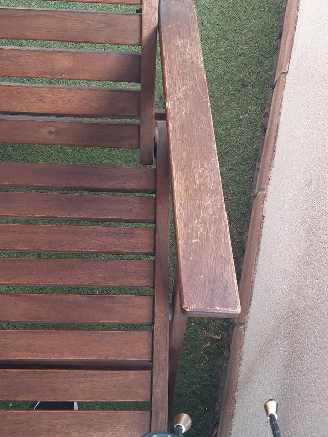 Silla reclinable ikea de teka