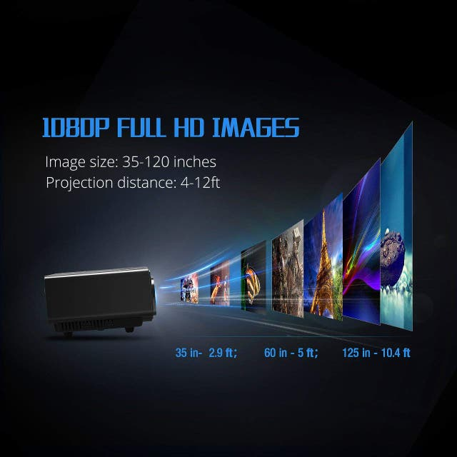 Proyector Mini 1080p USB HDMI VGA