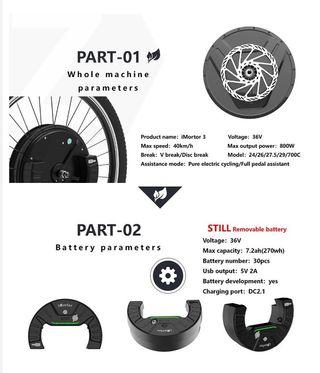 Bicicleta electrica, rueda imortor 3