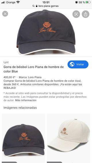 GORRA LORO PIANA BÉISBOL HOMBRE