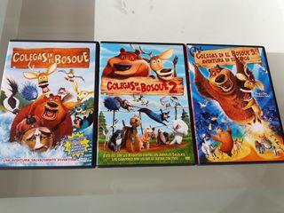 """DVD trilogía """"Colegas en el bosque"""""""