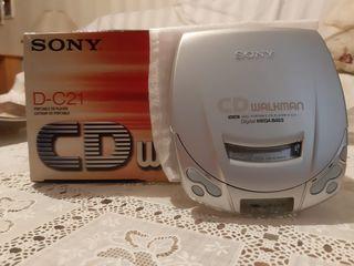 WALKMAN CD, Modelo D-C21, NUEVO!