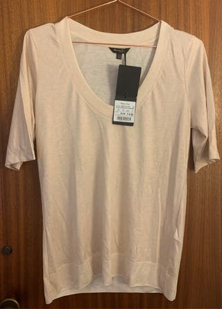 Camiseta nude brillantes Massimo Dutti