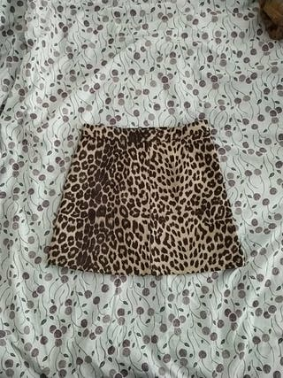 falda pantalón leopardo