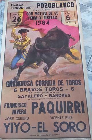 cartel de toros paquirri 1984