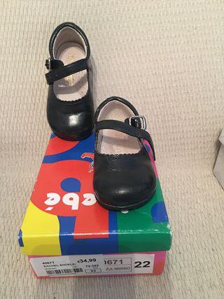 Zapatos niña azul marino T 22