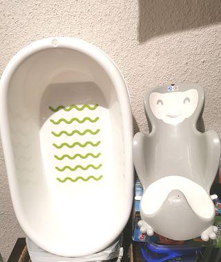 Bañera y hamaca bebé