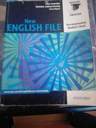 libro ingles , new english file pre-intermediate