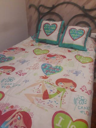 Edredón juvenil para cama de 0,90