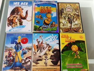 Pack de 6 DVD de películas infantiles