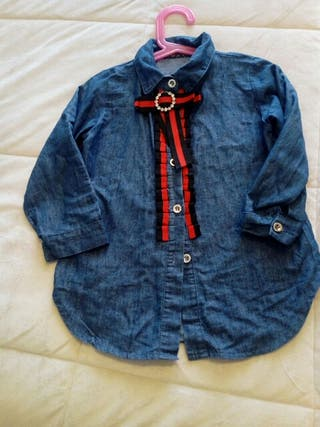 camisa vaquera niña