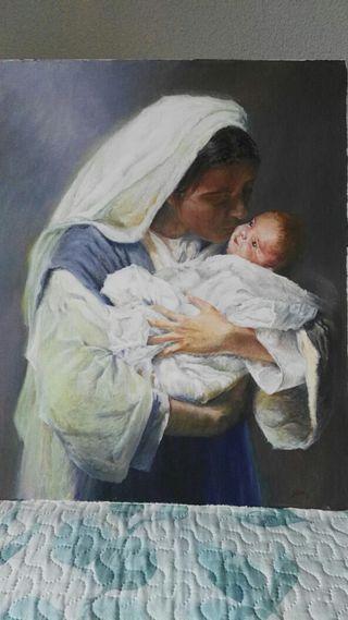 Cuadro de la Virgen con el Niño.