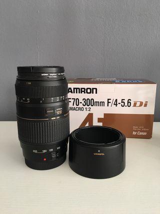 Objetivo Tamron AF 70-300 Canon