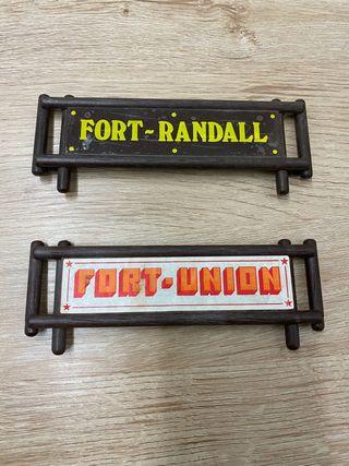 Carteles para Fortificaciones de Playmobil
