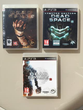 Pack 3 Videojuegos PS3 Dead Space 1,2,3