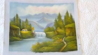 Óleo sobre lienzo para enmarcar.Pintura al óleo 10