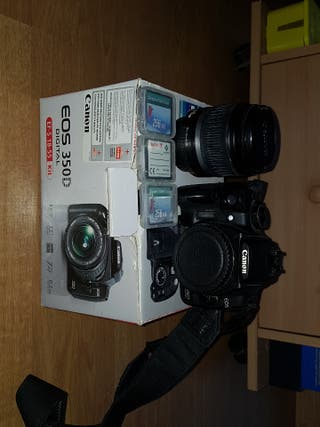 Cámara Canon EOS 350D + Objetivo