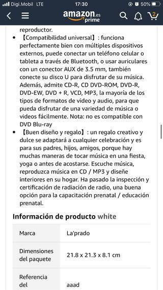 reproductor de cd dvd