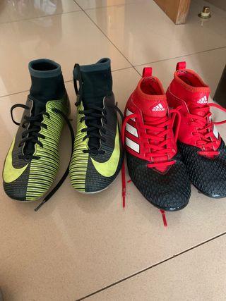 Botas fútbol Nike CR7, Adidas nemeziz