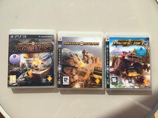 Pack 3 Videojuegos PS3 Motorstorm 1,2,3