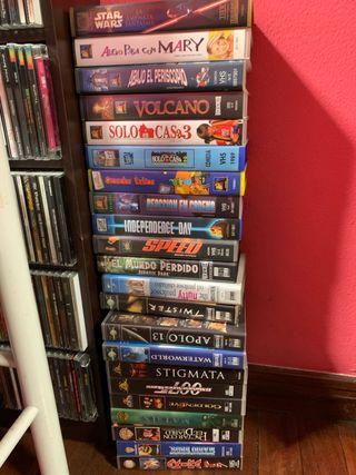VHS pack de películas.