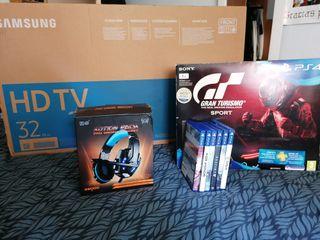 Lote completo!! Tv+Ps4 y juegos