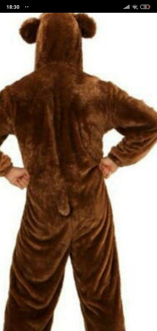traje de oso con cabeza por separado