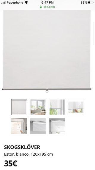 Estor IKEA blanco