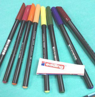 8 rotuladores Edding 1200 varios colores
