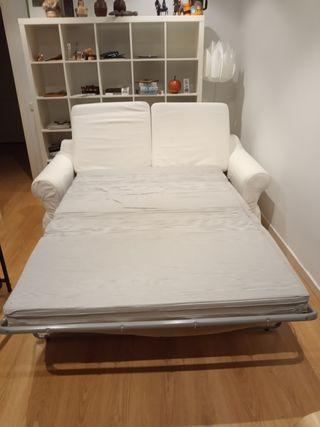 Sofá cama 2 plazas color blanco