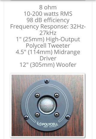 Altavoces INFINITY monitor 120