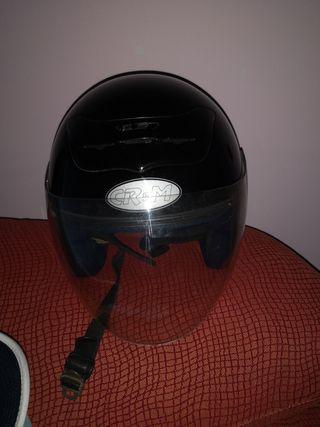 Casco de moto jet CR & M