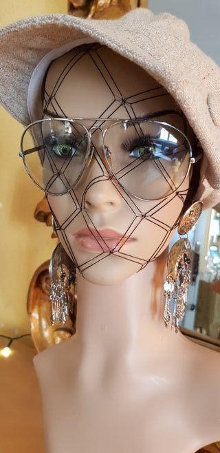 Gafas de acero tipo aviador, vintage en acero.