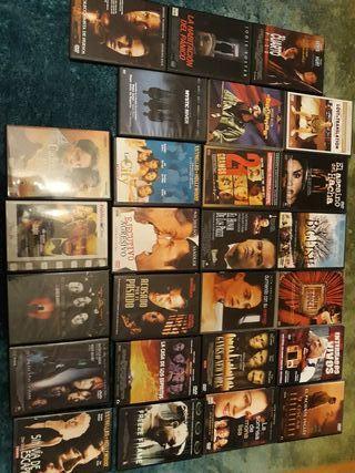27 películas en DVD como nuevas.