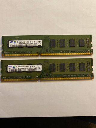 4gb (2x2gb) DDR3 SAMSUNG a 1333mhz memoria RAM
