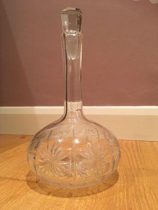 Antique Hand Cut Crystal Bottle