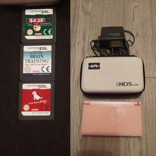 Nintendo DS Lite más 3 juegos