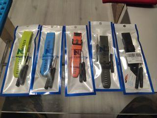 Pack de 5 unidades Correas Garmin Fenix 5