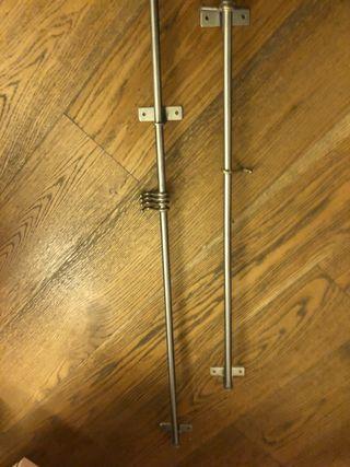 Conjunto de barras de colgar de acero
